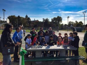 Chess Table Ribbon Cutting - 4 of 15