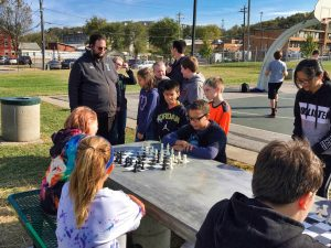 Chess Table Ribbon Cutting - 5 of 15