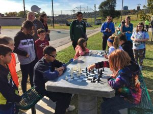 Chess Table Ribbon Cutting - 6 of 15